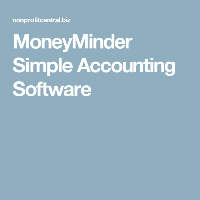 MoneyMinder Simple Accounting Software