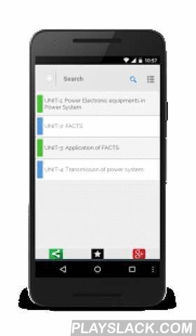 Advance Power Systems  Android App - playslack.com ,  Complete Free handbook of Advanced Power Systems with diagrams and graphs. The app is particularly useful for the electrical engineering and science students. This Free notes is designed for faster learning and revisions. The topics have been divided into multiple sub topics to jump to the right topics to learn and remember. The Material covers comprehensively the important notes which you want to keep handy if you want to learn better…