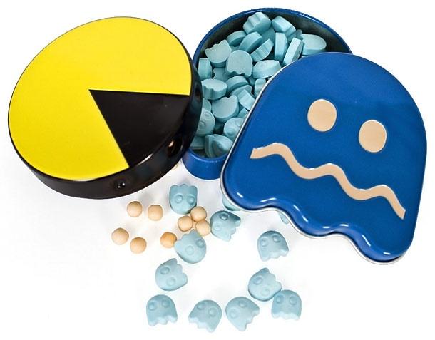 Les bonbons Pacman... ca me rappelle la boutique Haribo