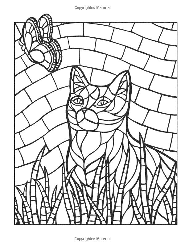 Animal Mosaic Colouring Pages : Creative haven animal mosaics jessica mazurkiewicz