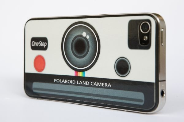 iPhone Polaroid decal! Totally would get this if I didn't already use my own illustration as my own phone decal.