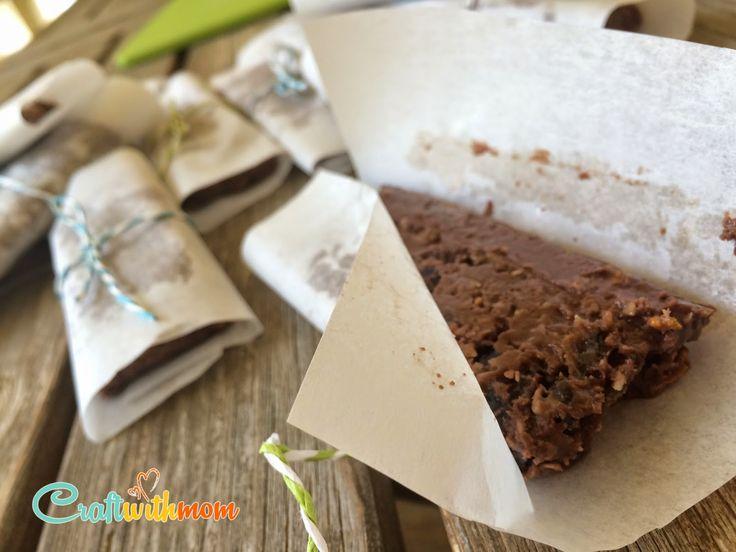 CraftWithMom Πανέυκολες σοκολατομπάρες χωρίς ψήσιμο! No bake chocolate bars!