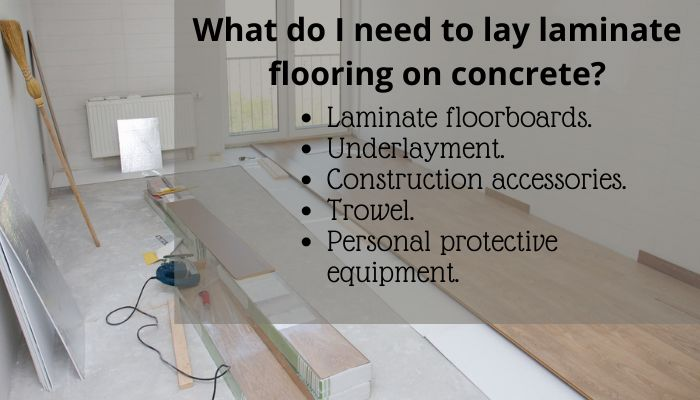How To Lay Laminate Flooring On, Installing Laminate Flooring On Concrete