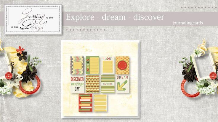 Explore - dream - discover journalingcards by Jessica art-design