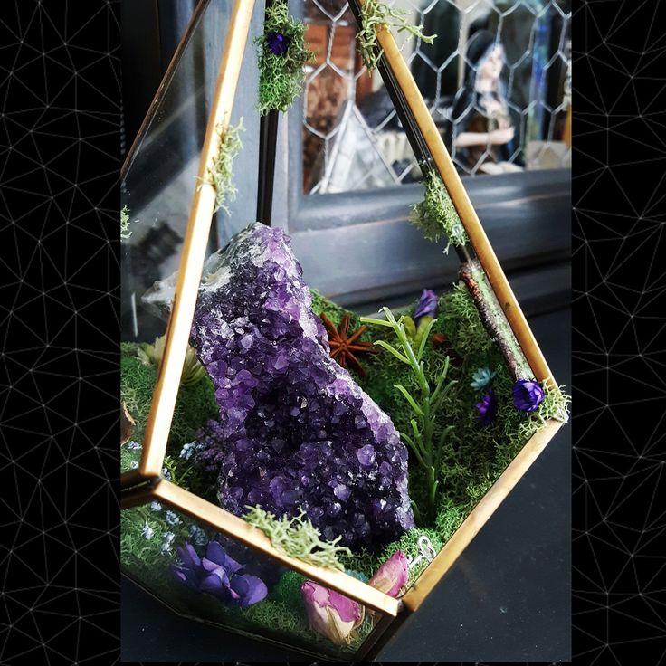 Crystal Terrarium Healing Crystals Terrarium Kit Glass