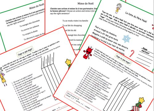 Noel Christmas Oral work for KS2, KS3 & KS4 - Activities to have the students speak in French this Christmas!