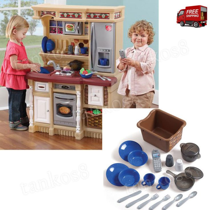 ThePlayset Kitchen 20-pc Accessory Set includes an imitation stainless steel oven, a microwave, a refrigerator, a sink with a faucet and a 17-piece accessory set that will help children learn about cooking and household maintenance. | eBay!