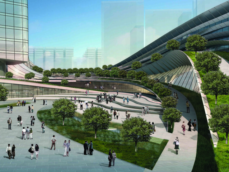 Express Rail Link West Kowloon Terminus / Andrew Bromberg,civic plaza