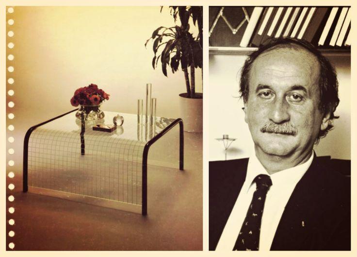 Ponte coffee table, design Angelo Cortesi, 1977. #Fiam #AngeloCortesi #Ponte #Coffeetable #madeinitaly #furniture #glass #interiordesign #design www.fiamitalia.it/