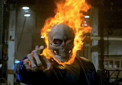 Animated Flaming Skull   ... animation more ironman hulk and spiderman adventure animated gifs