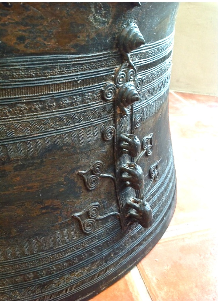Exceptional 19th C. Vintage Bronze Thai Frog Rain Drum.