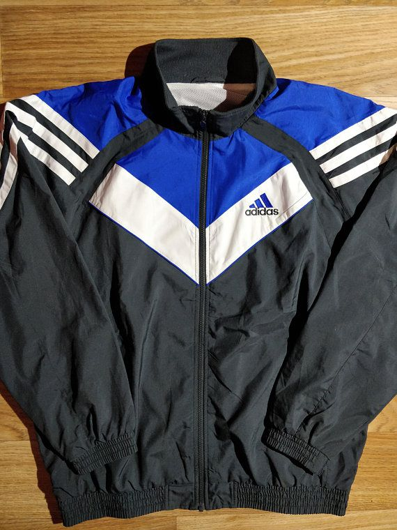 5e893ce3b3f5 Adidas 90 s Vintage Mens Tracksuit Top Jacket