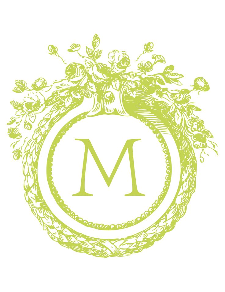 Free Custom Monogram - select color & select letter. Creates free monogram to download.