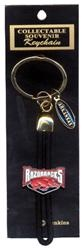 Arkansas Razorbacks Keychain Metal Bolo Shield