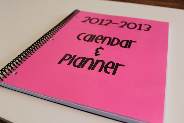 DIY customized teacher lesson plan book