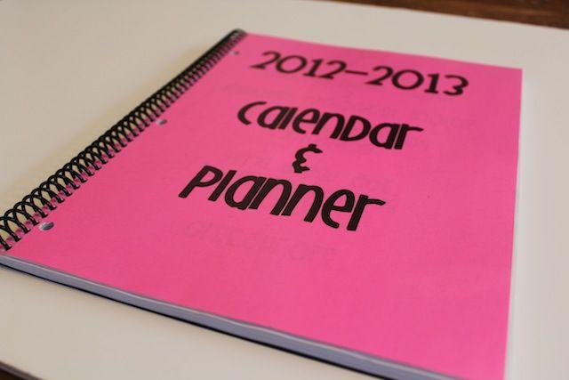 DIY customized teacher lesson plan book