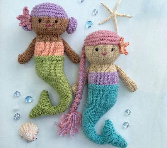 Knitting Toy Patterns Pinterest : 17 Best images about Knit Doll Patterns on Pinterest Mermaid dolls, Origina...