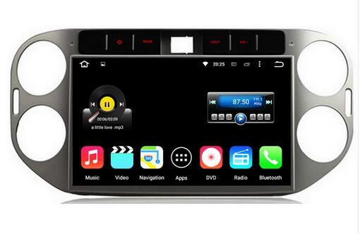 Android 6.0.1 octa core 8 core 1024*600 HD car dvd player for Volkswagen VW Tiguan 2011-2013 auto gps tape recorder head units