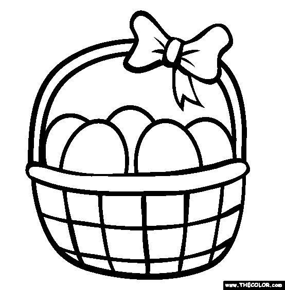 100 free easter coloring pages color in this picture of an easter basket and - Sheets To Color