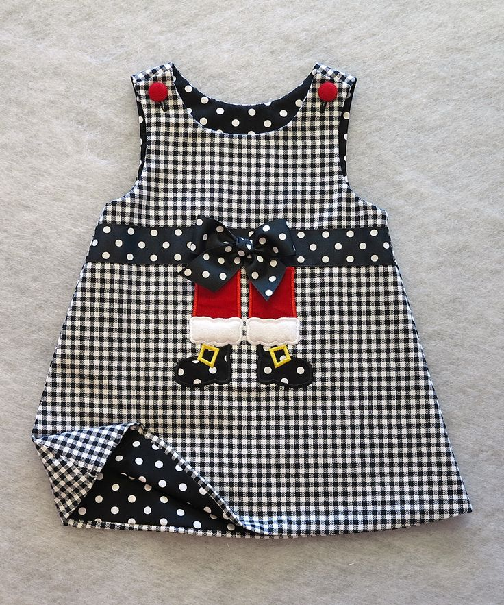 Katie Bug Casuals Black & White Shepherds Check Santa Legs Jumper - Toddler | zulily