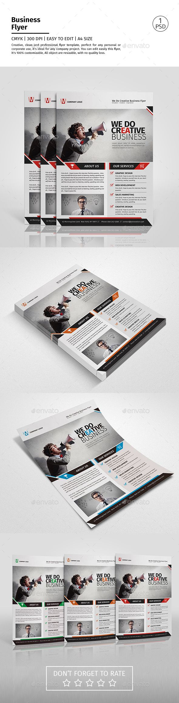 A4 Corporate Business Flyer Template PSD #design Download: http://graphicriver.net/item/a4-corporate-business-flyer-template-vol-09/13346202?ref=ksioks