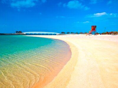 美々ビーチの砂浜
