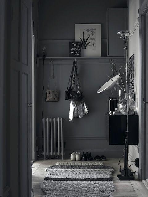 VM designblogg: Γκρι Κατοικία στη Σουηδία