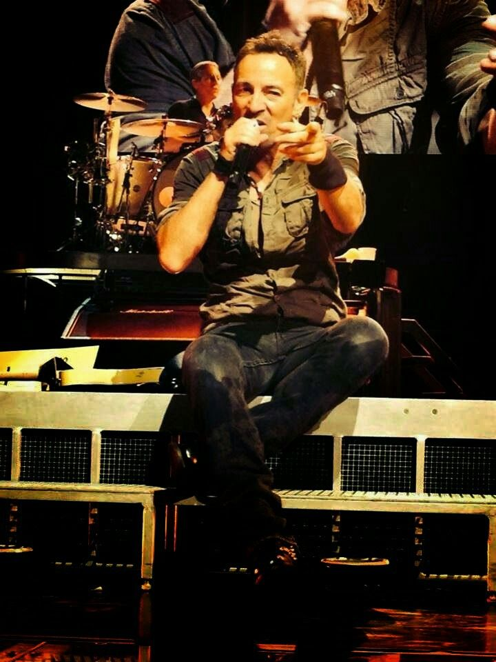 """Bruce Springsteen during the """"High Hopes"""" tour in 2014."""