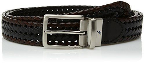 Men's Two-Tone Lace Reversible Belt, brown/black Best Christmas gift for Men New #Nautica