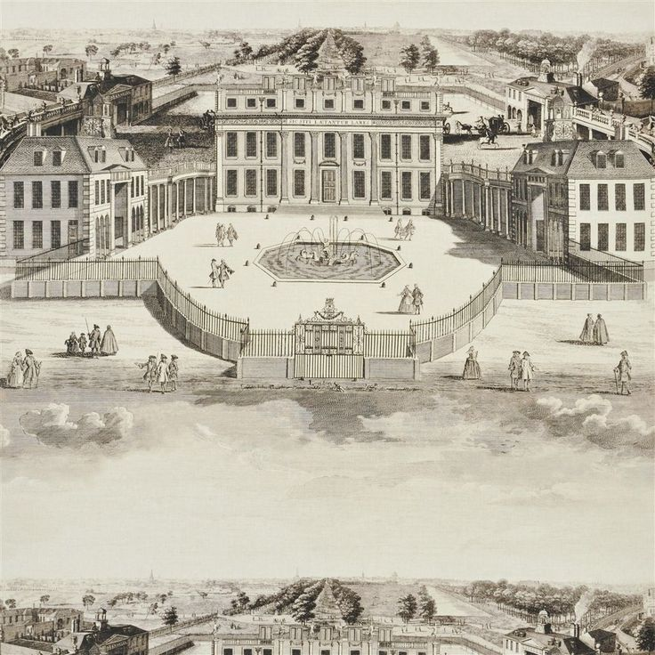 buckingham house - graphite fabric | Royal Collection