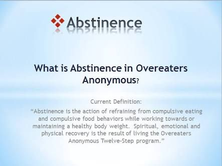 overeater anonymous online meetings Elida — an overeaters anonymous meeting will be held at 6 pm thursdays at new creations lutheran church, 109 w main st, elidafor more.