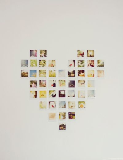 Polaroid Love Art Print Tumblr Room Heart Pictures And