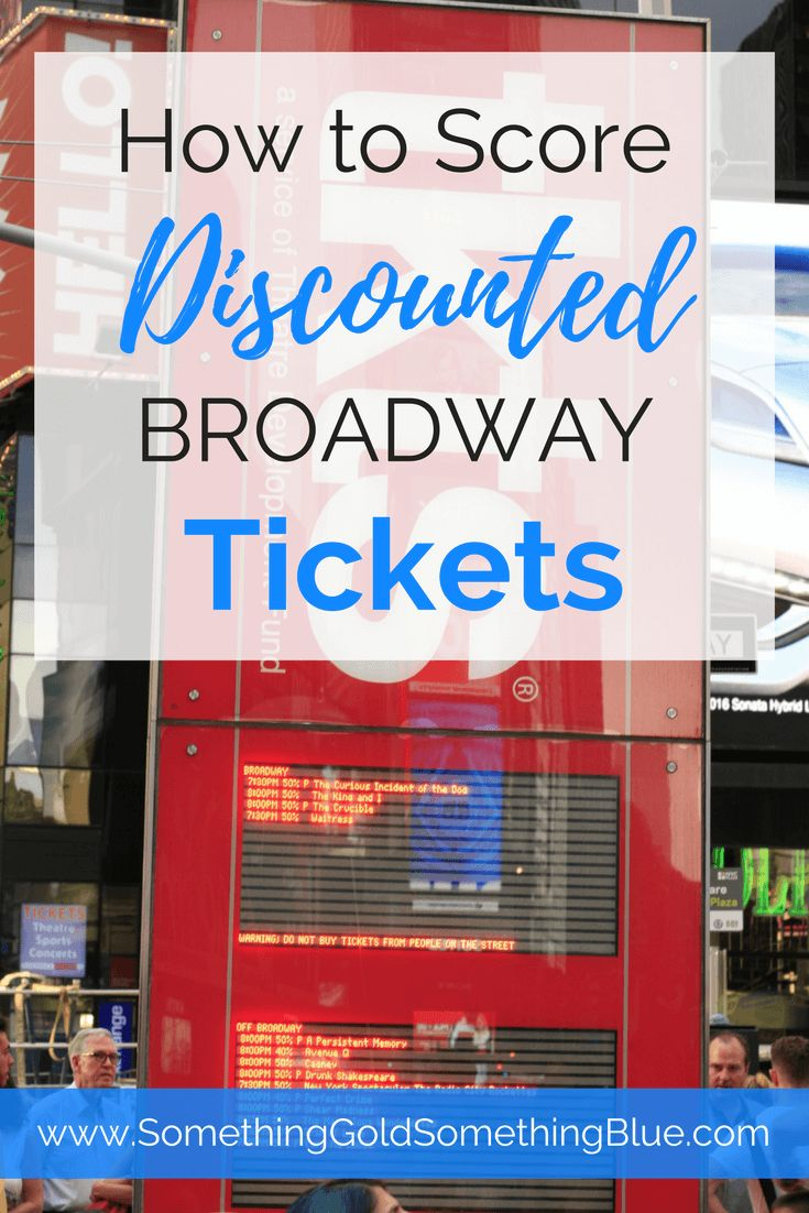 How to Buy Discounted Broadway Tickets