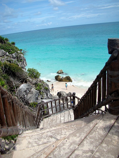 sandy stairway in Tulum, Mexico - the Mayan Riviera // by The Sean & Lauren Spectacular, via Flickr