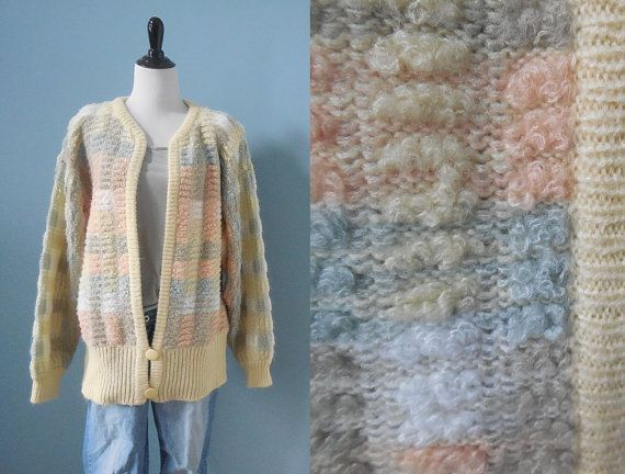 Vintage BOUCLE knit sweater COCOON SWEATER by DstudioVintage