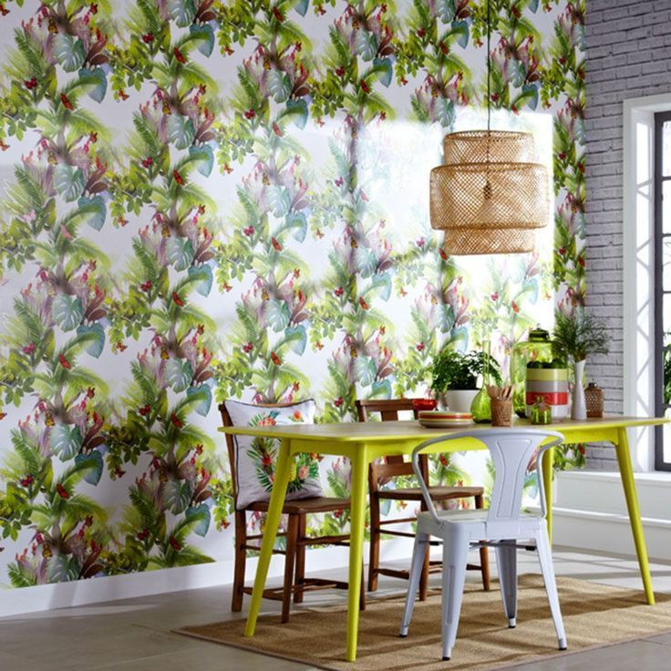 690300 Arthouse Amazonia Citrus Tropical Leaf Multi Wallpaper