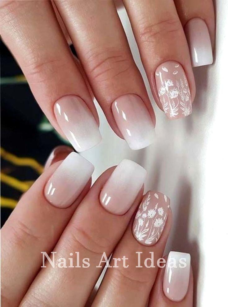 Nails and Artistic Nail Styles #nailscraft - White Nails And Artistic Nail Styles 1 Hair Cosmetics Jewelry