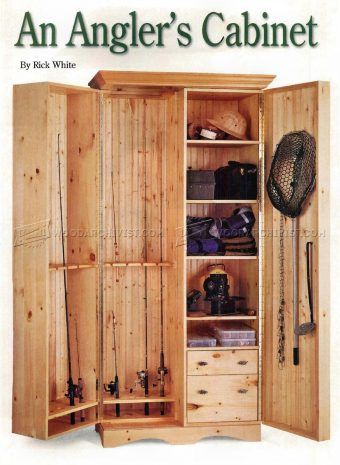 #2682 Fishing Rod Cabinet Plans - Furniture Plans