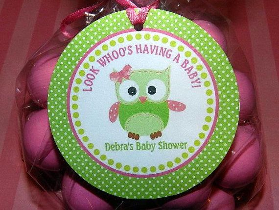 Green Owl Baby Shower Owl Baby Shower Favor by APartyWithPaper, $8.00