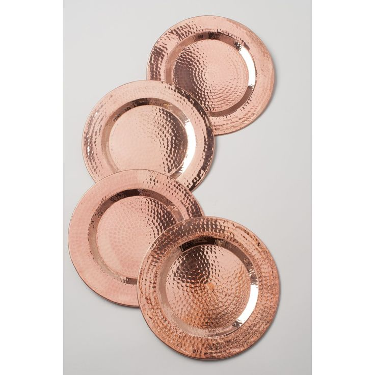 Copper Charger Plate - Organic Modern Dining Collection - Dot & Bo www.MadamPaloozaEmporium.com www.facebook.com/MadamPalooza
