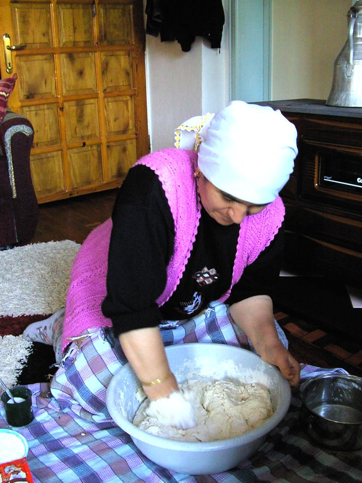 Learning how to make Turkish bread- stage 1