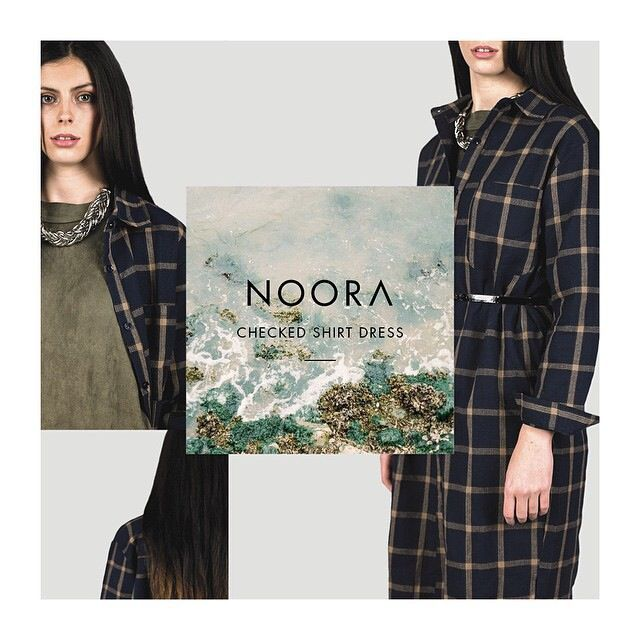 So many ways to wear our checked shirt dress available at #NOORA  #fashion #ootd #style #musthave #streetstyle #mydubai