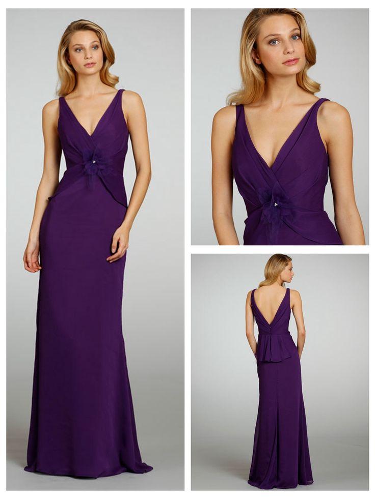 A-line Draped V-neck and V-back Bridesmaid Dress http://www.ckdress.com/aline-draped-vneck-and-vback-bridesmaid-dress-p-  1016.html  #wedding #dresses #dress #lightindream #lightindreaming #wed #clothing   #gown #weddingdresses #dressesonline #dressonline #bride
