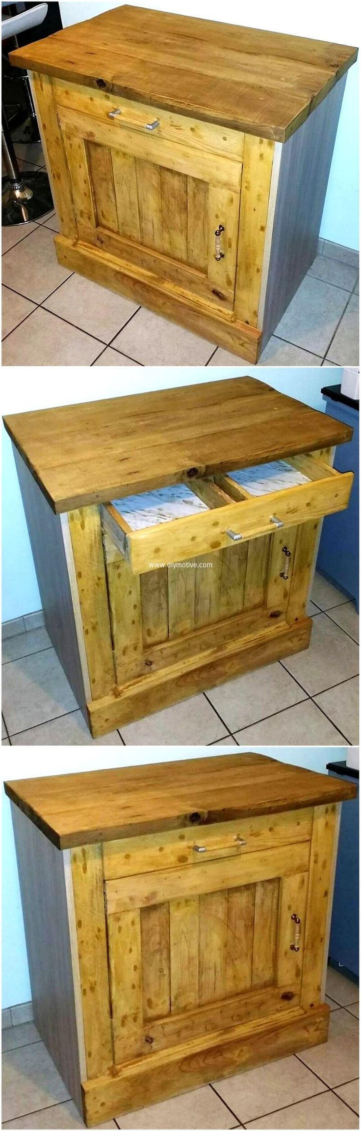 wood pallet night stand