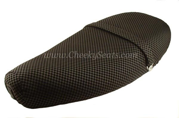 Vespa ET2 / ET4 Scooter Seat Cover Black Checks Water resistant | Scooter Seat Covers