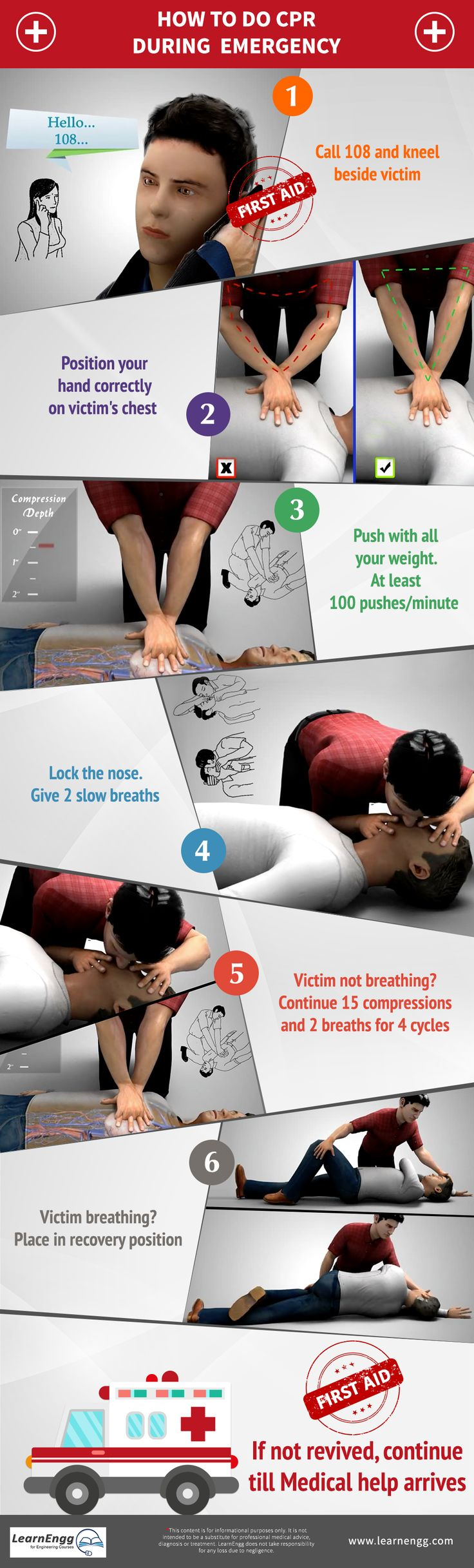 How to do CPR during Emergency? Learn from our blog and video: [Click on the image] #learnengg #cpr #firstaid
