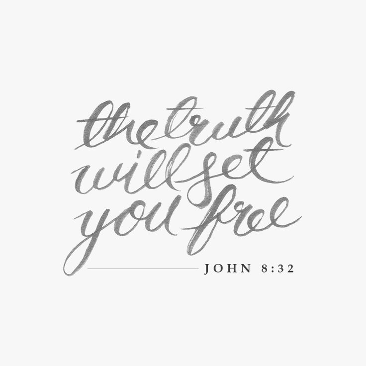 """The truth will set you free"" (John 8:32). #bibleverse #quotes #truth"
