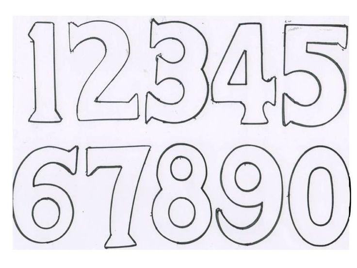 14 best Nommer fonts images on Pinterest Kindergarten math - number template