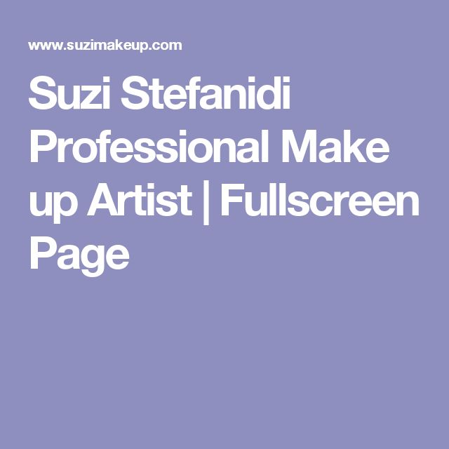 Suzi Stefanidi Professional Make up Artist | Fullscreen Page