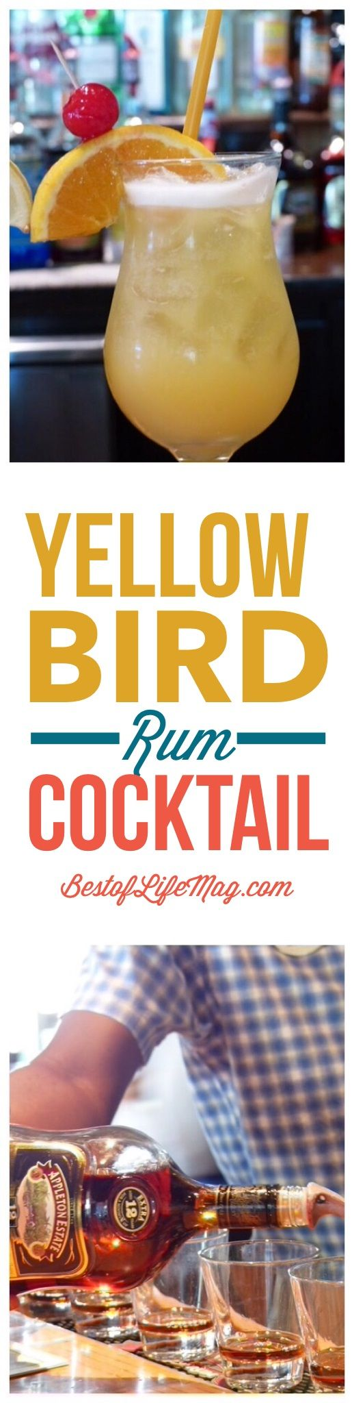 Yellow bird cocktail recipe glasses beaches and birds for Cocktail yellow bird